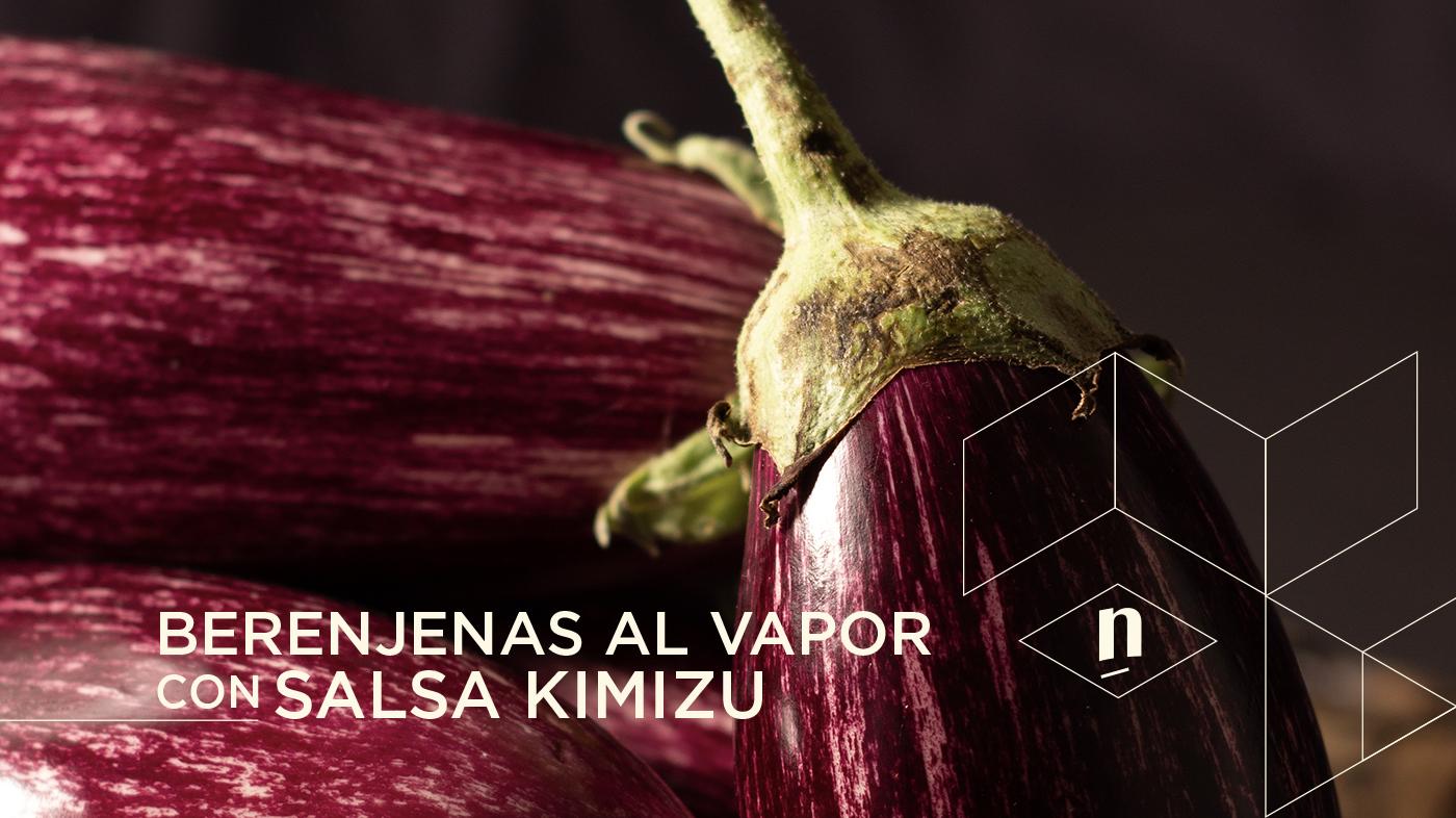 Berenjenas al vapor con salsa Kimizu